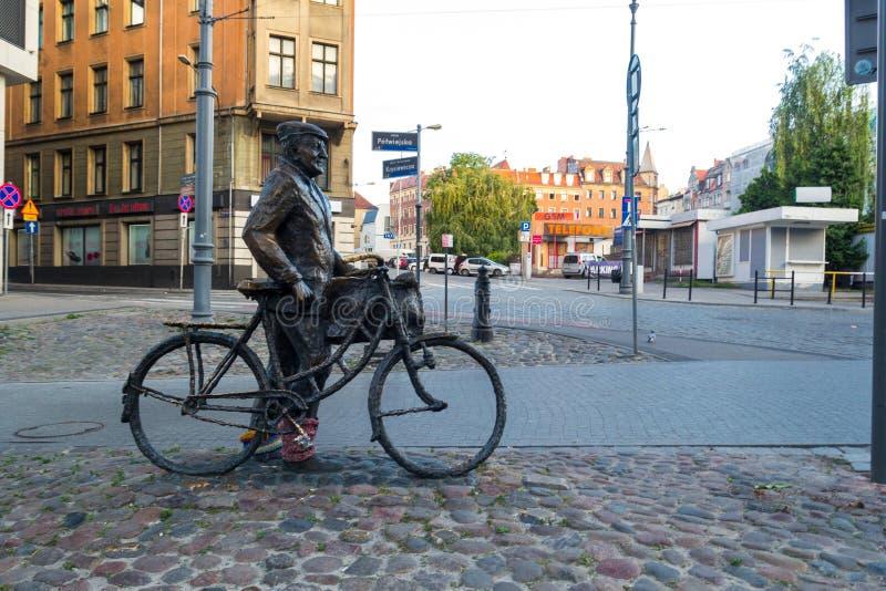 波兹南,波兰- 06 20 2018年:知名的雕塑  库存图片