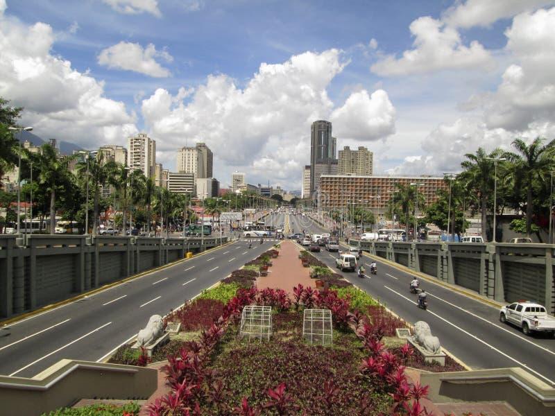 波利瓦大道, Avenida波利瓦,加拉加斯,委内瑞拉 免版税库存图片
