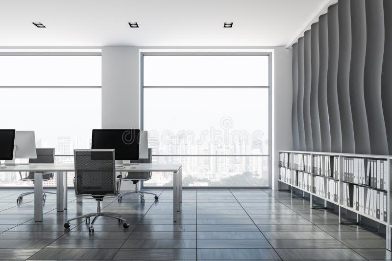 波动图式开放学制办事处内部 向量例证