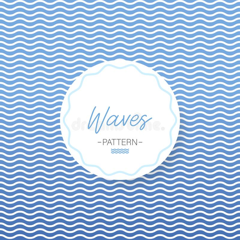 波动图式 背景彩色插图模式无缝的向量水 波浪海例证 背景看板卡祝贺邀请 向量 库存例证