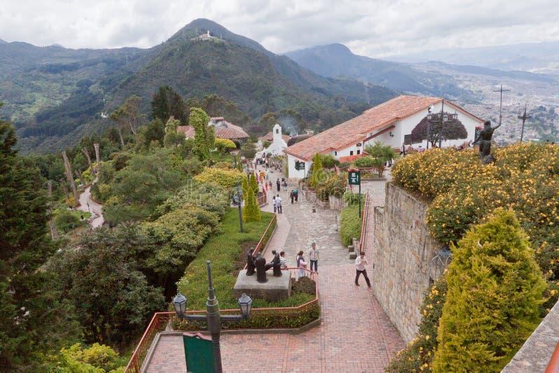 波哥大哥伦比亚小山monserrate 库存照片