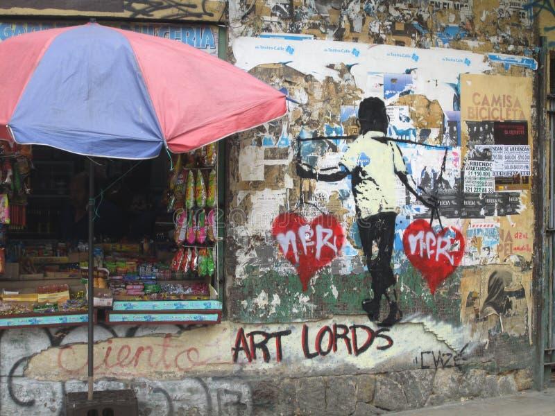 波哥大街艺术,哥伦比亚 免版税库存图片