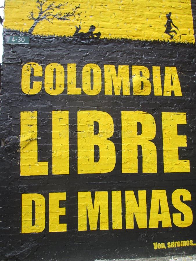 波哥大街艺术,哥伦比亚 图库摄影