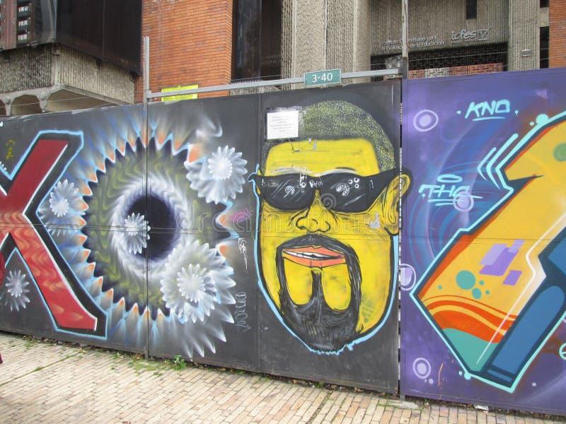 波哥大街艺术,哥伦比亚 库存照片