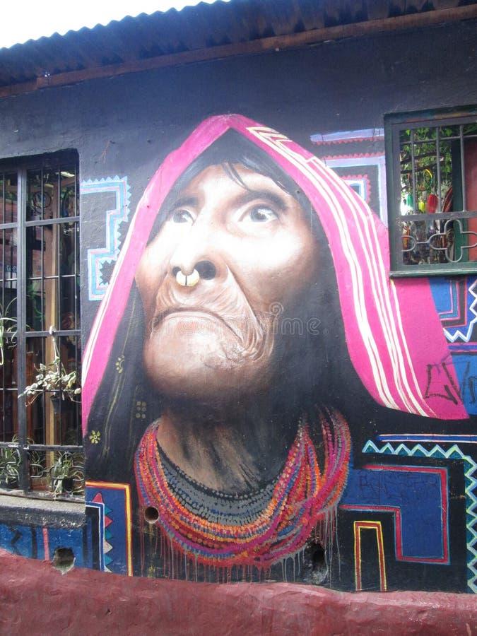 波哥大街艺术,哥伦比亚 免版税库存照片