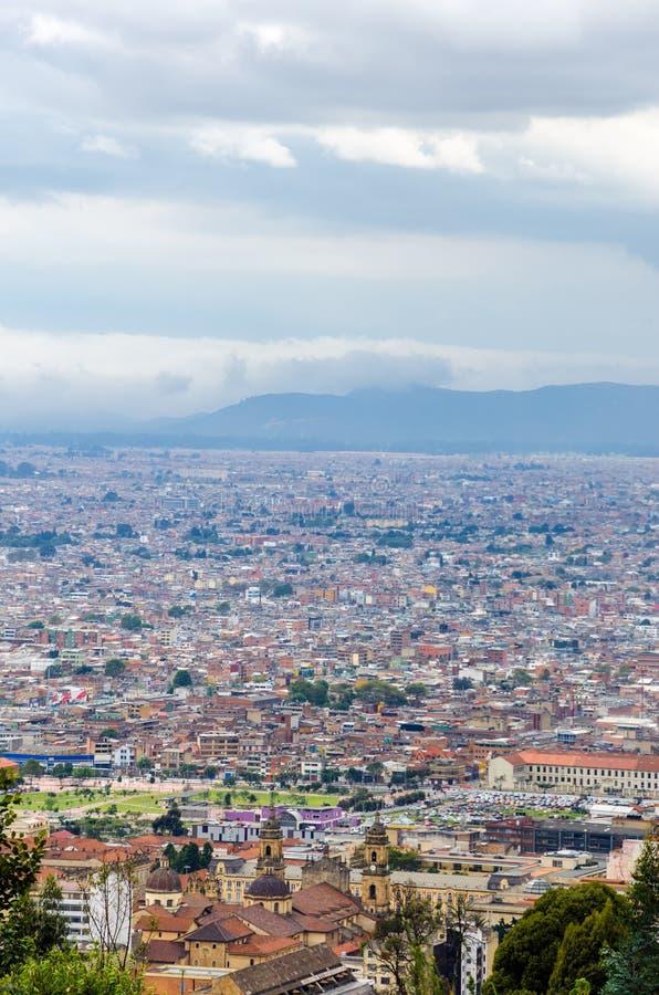 波哥大,哥伦比亚都市风景视图  库存照片