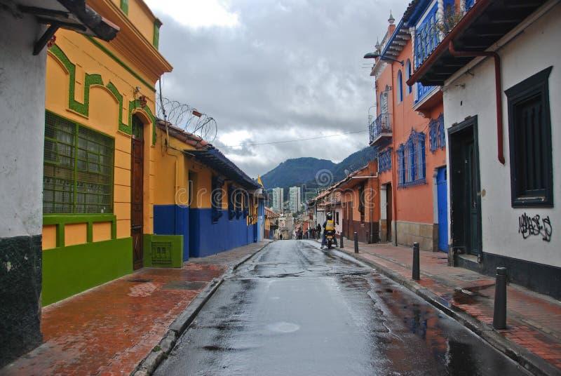 波哥大- La坎德拉里亚角 免版税库存照片