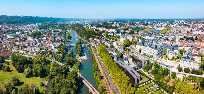 波城空中全景,法国 库存图片