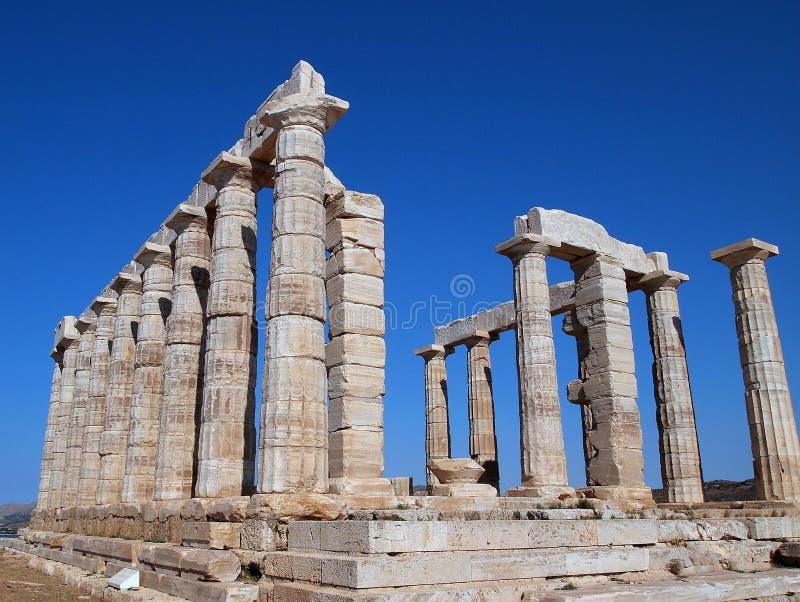 波塞冬寺庙, Sounion,希腊 库存照片