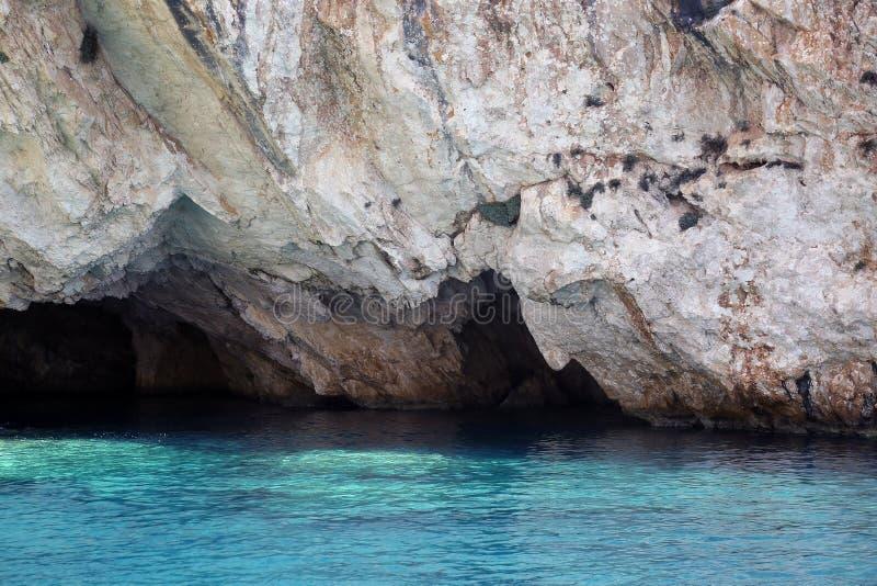 波塞冬的面孔,扎金索斯州海岛,希腊 库存照片