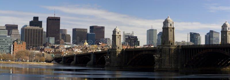 波士顿全景 免版税库存照片