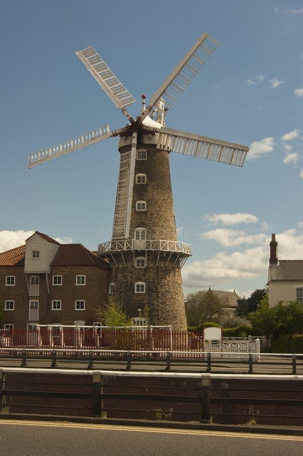 波士顿养育林肯郡maude风车 免版税库存图片