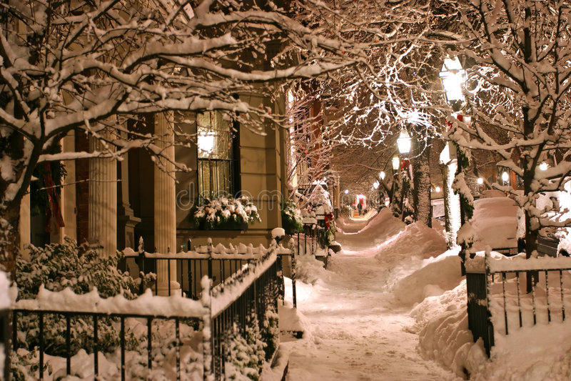 波士顿冬天 图库摄影