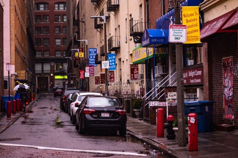 波士顿唐人街 图库摄影