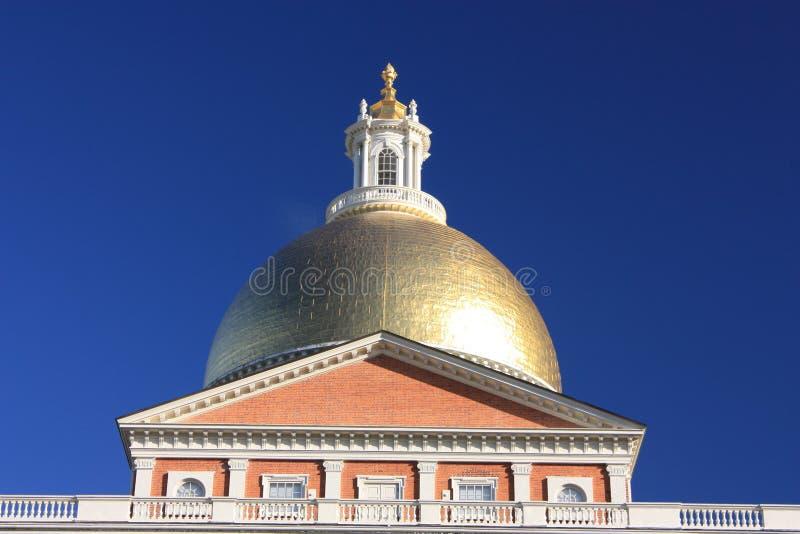 波士顿圆顶金房子状态 免版税库存图片