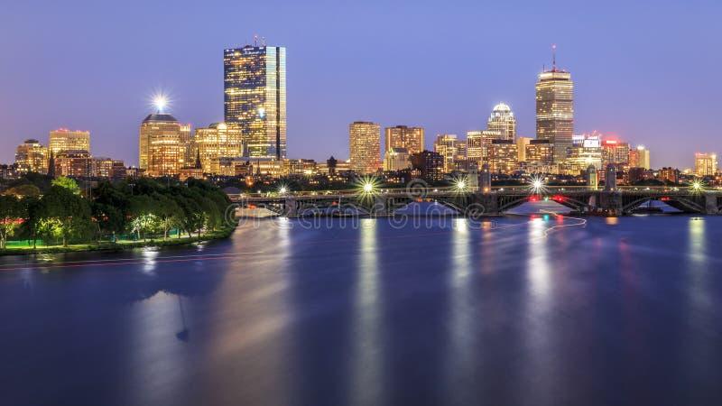 波士顿地区街市财务马萨诸塞美国 免版税库存照片