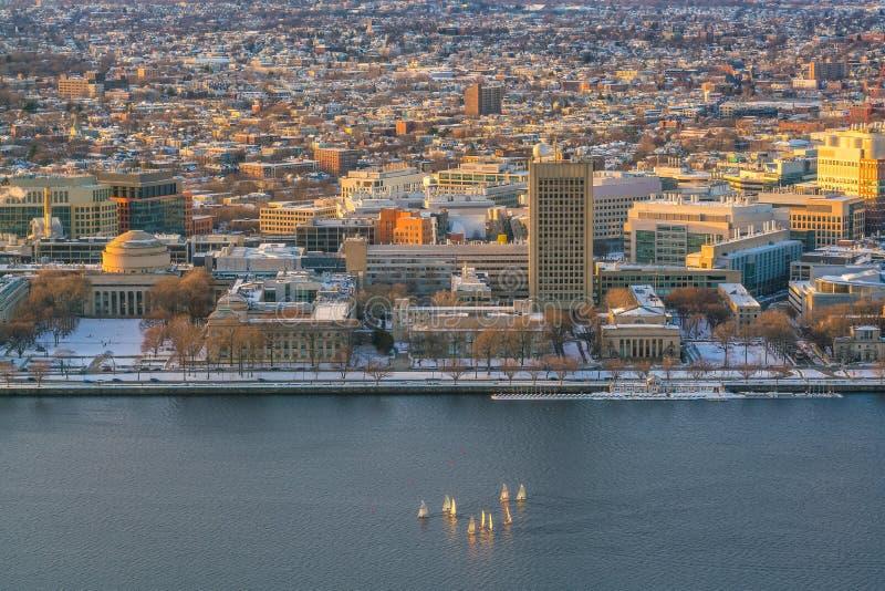 波士顿地平线在马萨诸塞,美国 库存图片