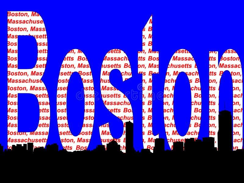 波士顿地平线 皇族释放例证