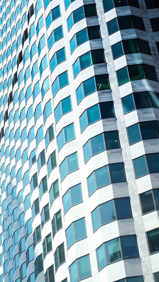波士顿市天空刮板在冬天 免版税库存照片