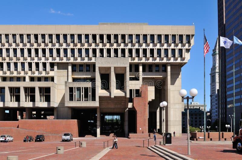 波士顿市政厅广场 库存照片