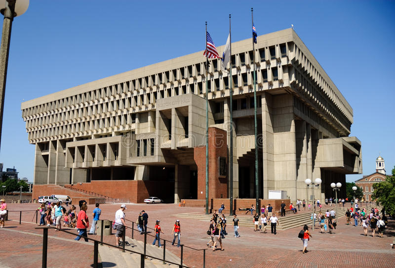 波士顿市政厅 免版税库存照片