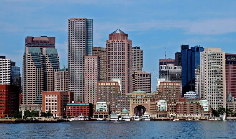 波士顿市港口 库存照片