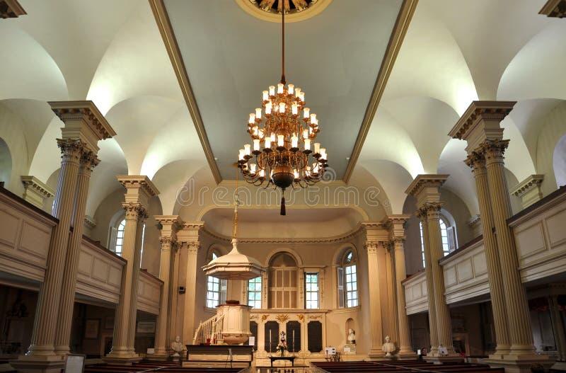 波士顿教堂s美国国王 库存照片