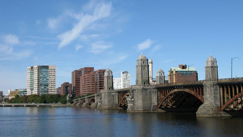 波士顿江边 库存照片