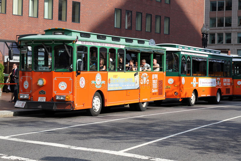 波士顿游人台车 图库摄影