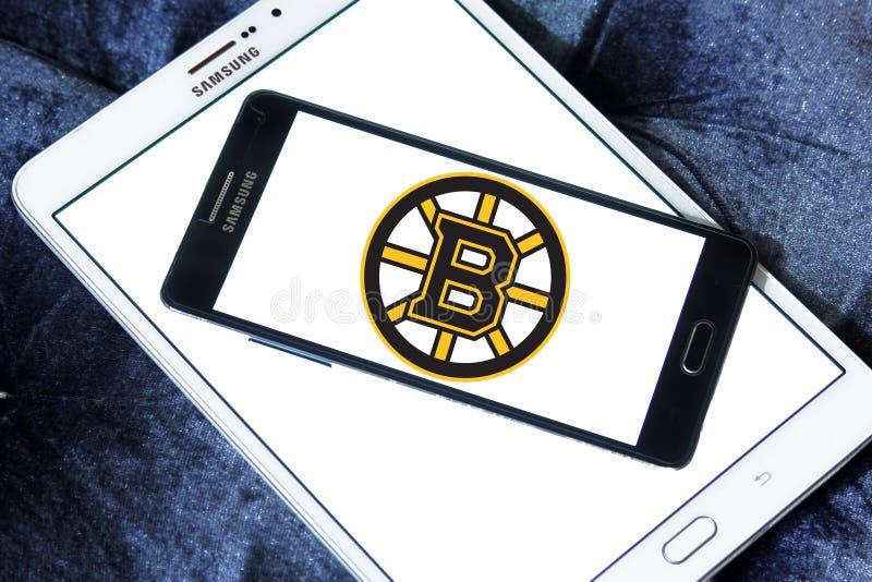 波士顿熊冰球队商标 库存图片