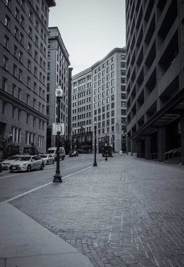 波士顿街道  免版税库存照片