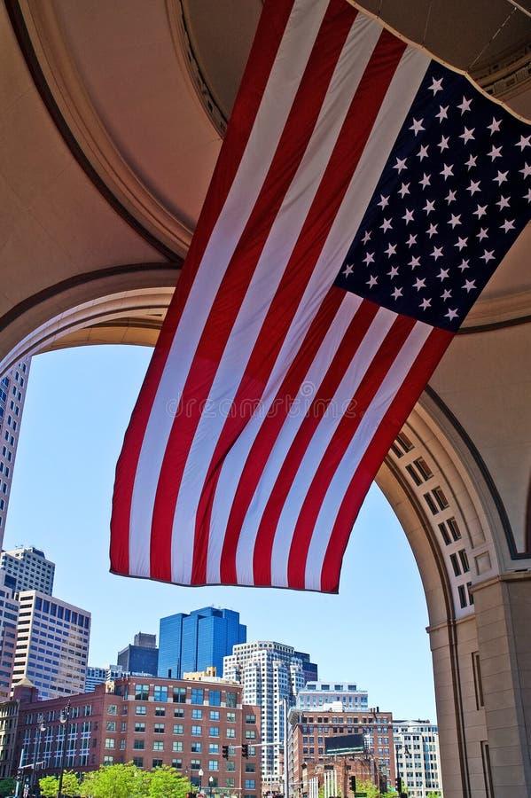 波士顿都市风景标志国民 库存照片