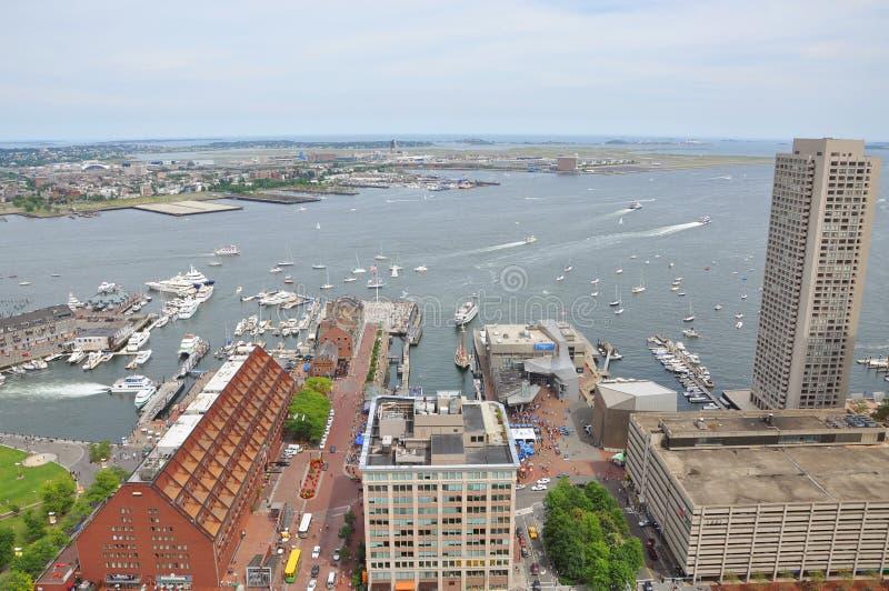 波士顿长的江边码头 图库摄影