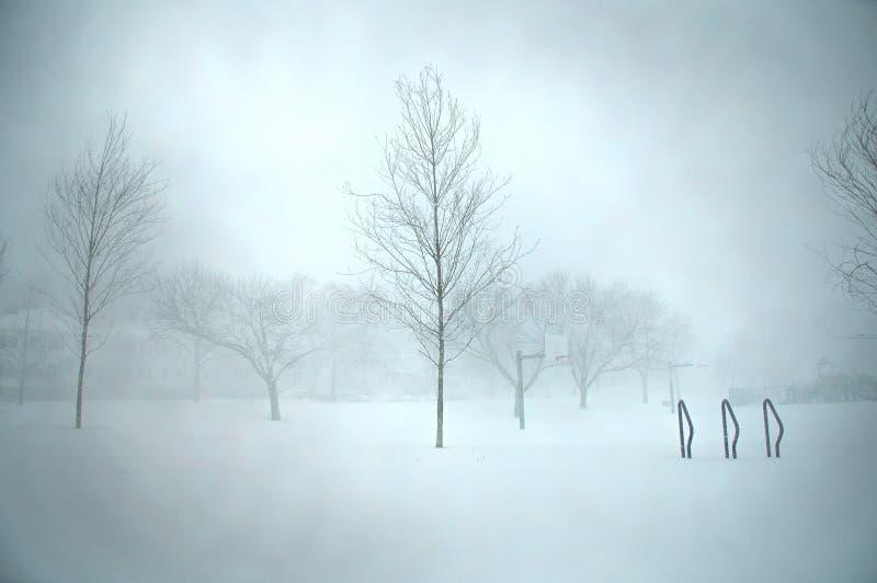 波士顿飞雪 免版税库存照片