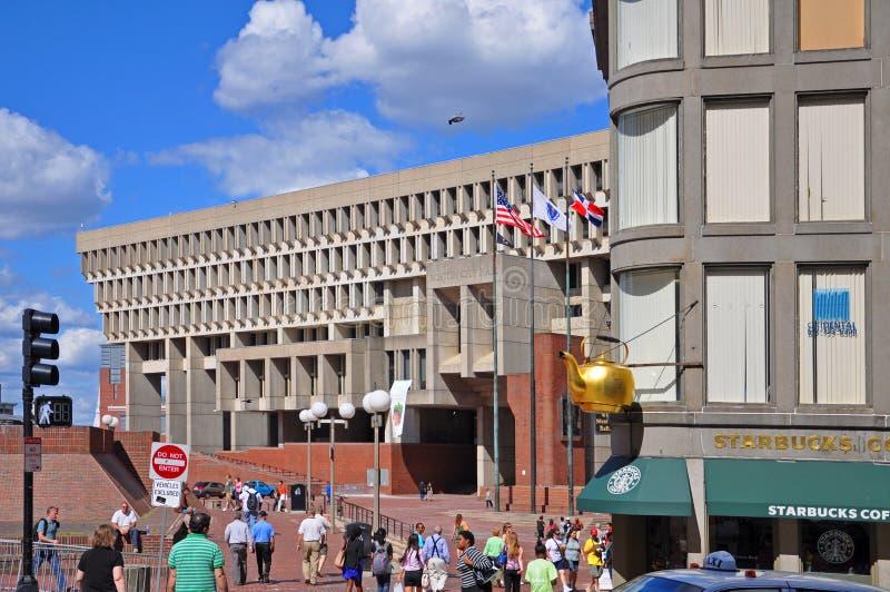 波士顿香港大会堂,街市波士顿,美国 免版税库存照片