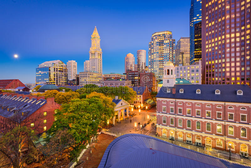 波士顿,马萨诸塞,美国 免版税库存照片