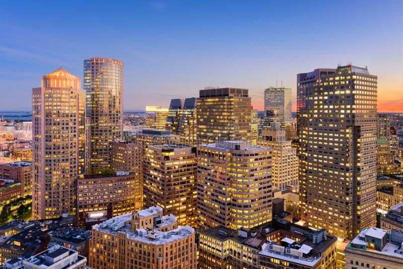 波士顿财政区都市风景 免版税库存照片