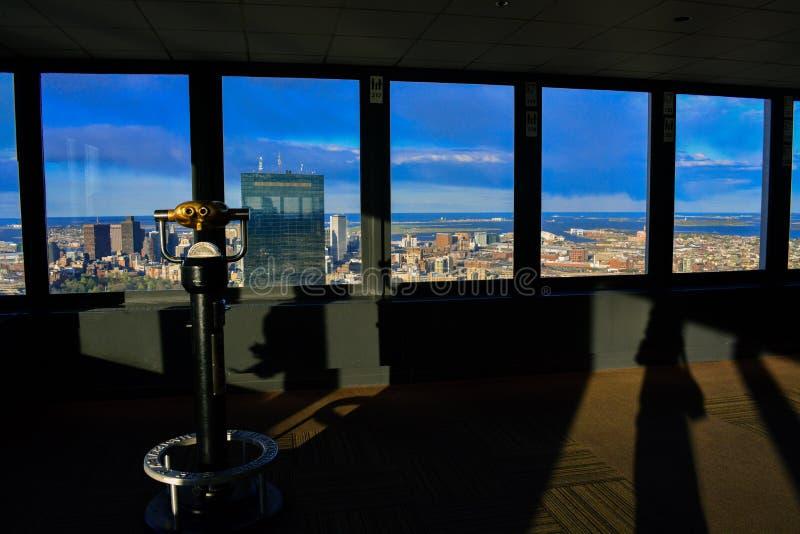 波士顿从观察台的市视图 免版税库存照片