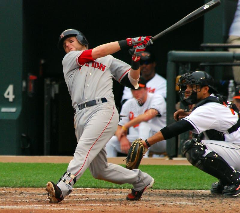 波士顿dustin pedroia Red Sox 库存照片