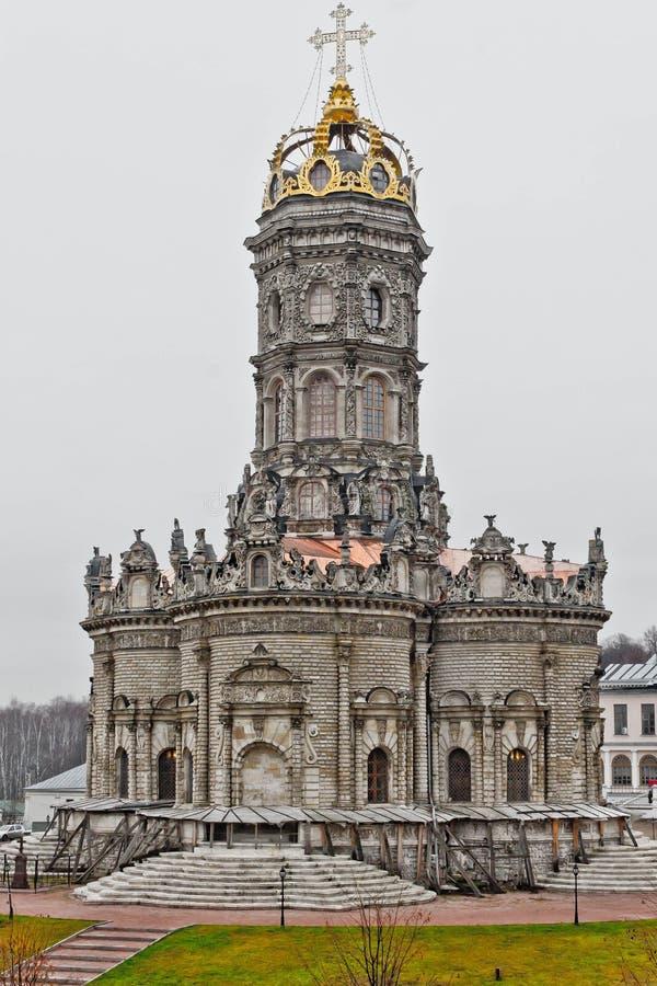 波多利斯克的Znamenskaya教会 免版税库存照片