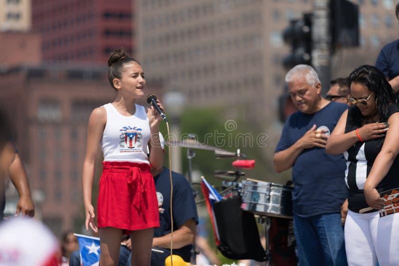 波多黎各人天游行2018年 免版税图库摄影