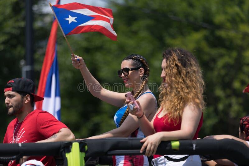波多黎各人天游行2018年 免版税库存图片