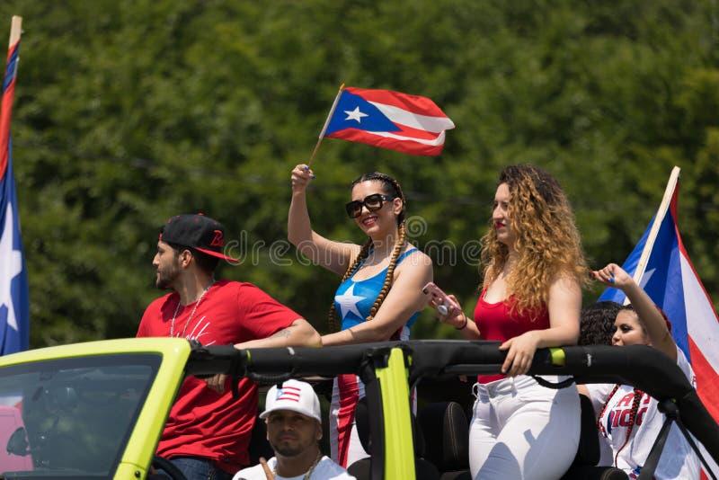 波多黎各人天游行2018年 免版税库存照片