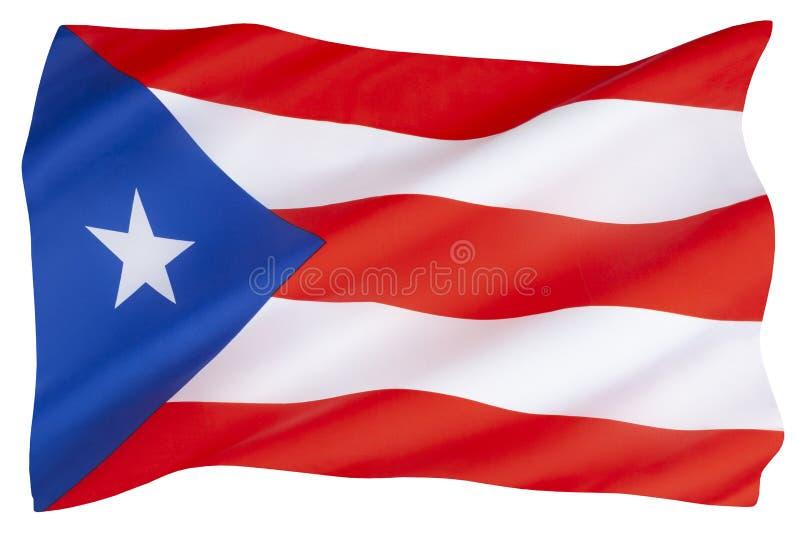波多黎各国旗 免版税库存图片