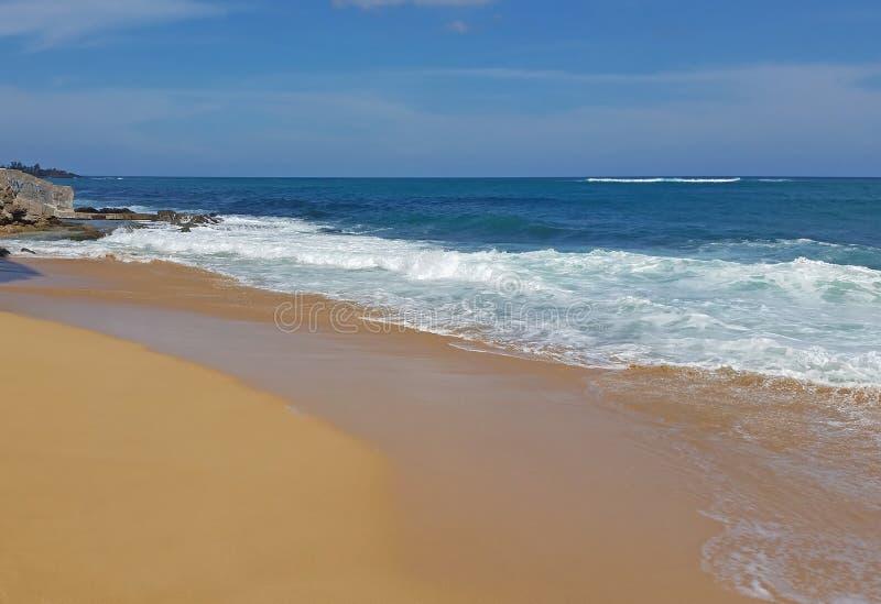 波多黎各圣胡安海滩 免版税库存图片