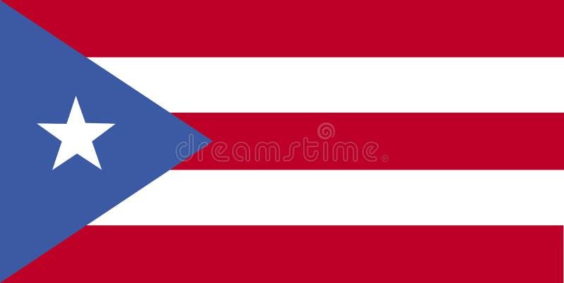 波多黎各的国旗 与波多黎各的旗子的背景 库存例证