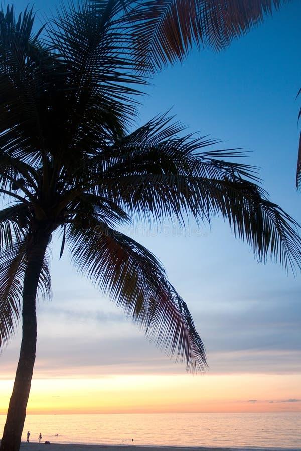 波多黎各卡罗来纳州日落 库存图片