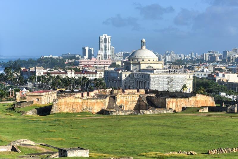 波多黎各国会大厦大厦-圣胡安 图库摄影