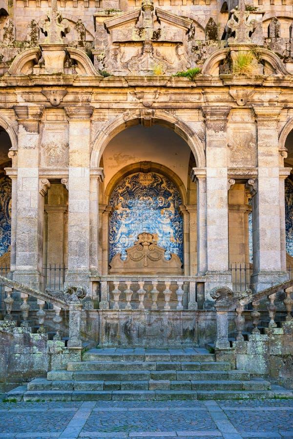 波尔图大教堂门面视图,天主教堂,葡萄牙 Co 库存图片