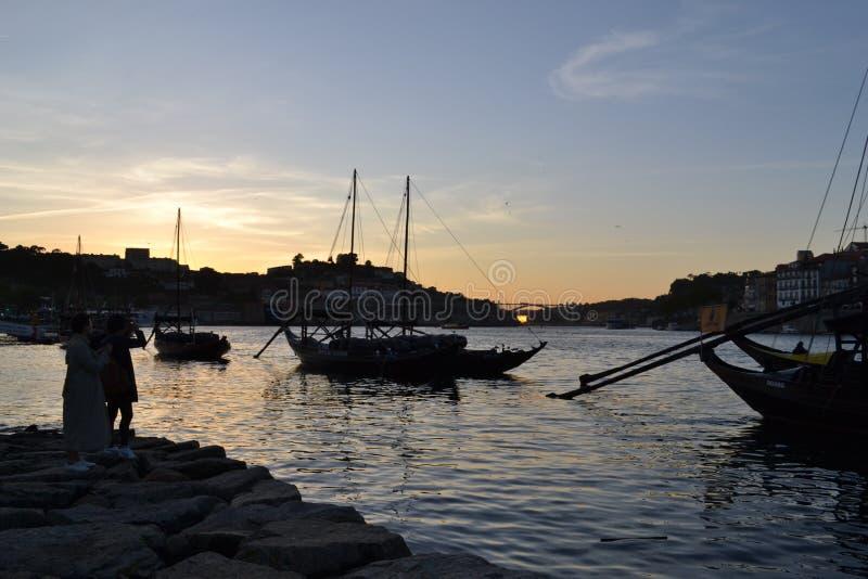 波尔图河边,葡萄牙 免版税库存照片